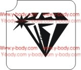 Diamond Glitter tattoo stencil, Airbrush Tattoo Stencil, Henna Tattoos Glimmer tattoos