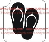 Pair of Flip Flop Glitter Tattoos Stencil