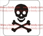 danger skull cross bones Glitter tattoo stencil, Temporary tattoos, Henna Tattoos, Airbrush Tattoo Stencil,