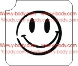 smiley face Glitter tattoo stencil for Airbrush Tattoo Stencil, Henna Tattoos, Glimmer tattoos
