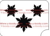 3 snowflakes Glitter tattoo stencil for Temporary tattoos, Henna Tattoos, Airbrush Tattoo Stencil,