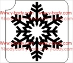 snowflake Glitter tattoo stencil for Temporary tattoos, Henna Tattoos, Airbrush Tattoo Stencil,