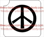 peace sign glitter tattoo stencil