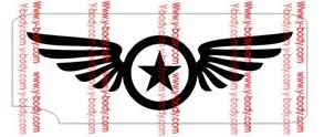 Star Wing 3-Layer Glitter Tattoo Stencil