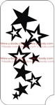 star sensation cluster of stars Glitter tattoo stencil for Airbrush Tattoo Stencil, Henna Tattoos, Glimmer tattoos