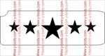 5 star Glitter tattoo Stencil. large star in the center, stars get smaller as you work your way out
