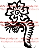Henna Flower Design Stencil for Glitter Tattoos