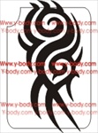 tribal spiral glitter tattoo stencil