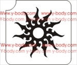 Tribal Sun Design Stencil for Face & Body Art
