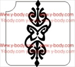 ornamental glitter tattoo stencil