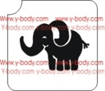 baby elephant Glitter Tattoos, Shimmer Tattoos, Temporary Body Art, cosmetic glitter art, Temporary Tattoo, Body Bling