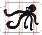 Octopus stencil for Glitter Tattoos, Shimmer Tattoos, Temporary Body Art, cosmetic glitter art, Temporary Tattoo, Body Bling