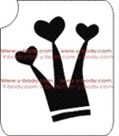 Heart Crown glitter tattoo stencil