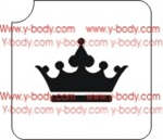 Crown stencil for Glitter Tattoos, Shimmer Tattoos, Temporary Body Art, cosmetic glitter art, Temporary Tattoo, Body Bling