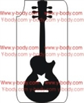 Guitar stencil for Glitter Tattoos, Shimmer Tattoos, Temporary Body Art, cosmetic glitter art, Temporary Tattoo, Body Bling