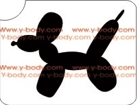 Balloon Dog glitter tattoo stencil