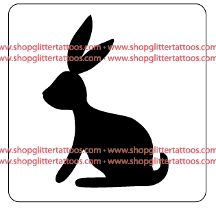 Spring & Easter Bunny Rabbit Stencil for Glitter Tattoos