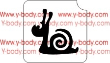 Cute Snail Stencil for Glitter Tattoos