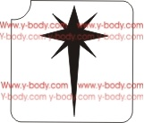 Morning Star Glitter 3-Layer Tattoo Stencil