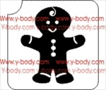 gingerbread man glitter tattoo stencil