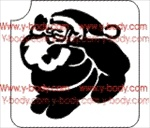 jolly santa clause glitter tattoo stencil
