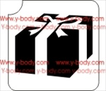gift box glitter tattoo stencil