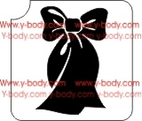 bow ribbon glitter tattoo stencil