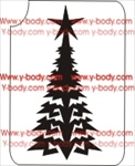 christmas tree glitter tattoo stencil