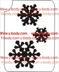Snowflakes Glitter 3-Layer Tattoo Stencil