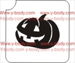carved pumpkin glitter tattoo stencil