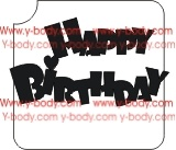 Happy Birthday Adhesive Glitter Tattoo Stencil