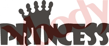 Block Letter Princess Stencil with Crown