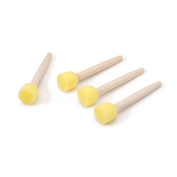 4 Pack - Small Sponge Daubers with Wooden stick