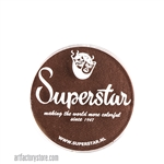 Superstar chocolate brown, a great skin tone color in a 16 gr jar for face and body painting