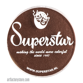 Superstar chocolate brown, a great skin tone color in a 45 gr jar for face and body painting