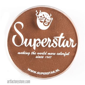 Superstar pecan brown, a great skin tone color in a 45 gr jar for face and body painting