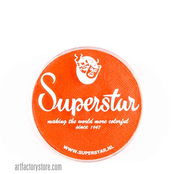 Superstar bright orange, a great base for tigers in a 16 gr jar for face and body painting