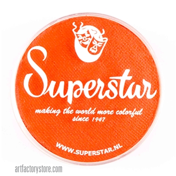 Superstar bright orange, a great base for tigers in a 45 gr jar for face and body painting