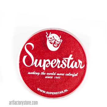 Superstar fire red, great bold red for superhero designs in a 16 gr jar for face and body painting