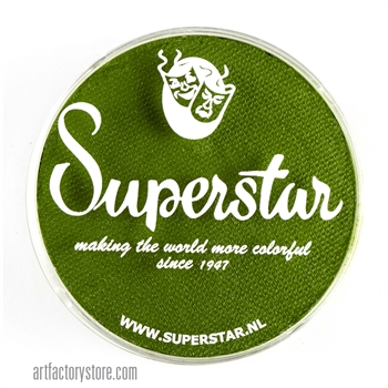 Superstar grass green, earthy undertone for leaves and vines in a 45 gr jar for face and body painting