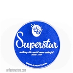 Superstar bright blue, brightest shade of medium blue in a 16 gr jar for face and body painting