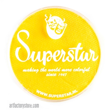 Superstar bright yellow - rich, sunny and bright.  45 gr jar for face and body painting