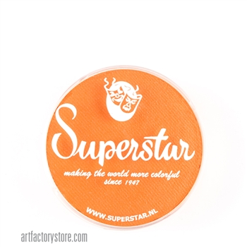 Superstar light orange, the perfect shade for pumpkins and great base for tigers in a 16 gr jar for face and body painting