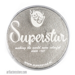 Superstar silver shimmer is a dramatic sparkly shade of grey in a 45 gr jar for face and body painting