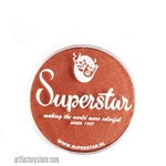 Superstar copper shimmer with hints of orange and brown in 16 gr jar for face and body painting