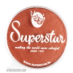 Superstar copper shimmer with hints of orange and brown in a 45 gr jar for face and body painting