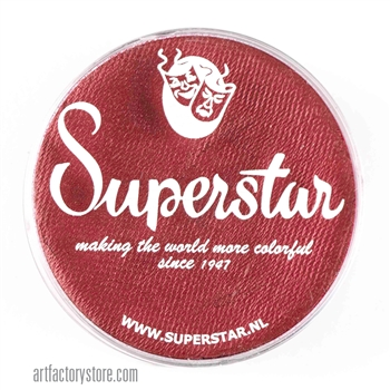 Superstar rusty shimmer is rich with hints of red in a 45 gr jar for face and body painting