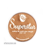 Superstar bronze shimmer has hints of light brown, yellow and gold in 16 gr jar for face and body painting