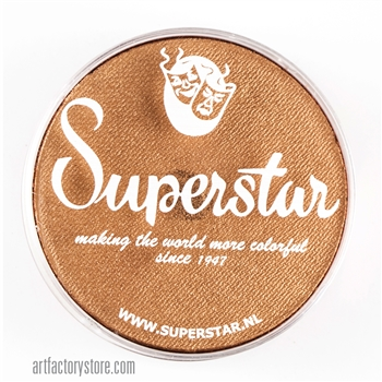 Superstar bronze shimmer has hints of light brown, yellow and gold in a 45 gr jar for face and body painting