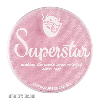 Superstar baby pink is a soft pale pink in a 45 gr jar for face and body painting